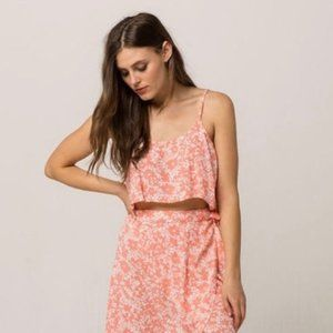 sky and sparrow Floral Swing Tank Coral M NWT